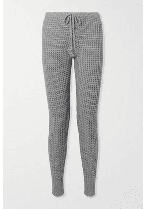 Madeleine Thompson - Oceanus Waffle-knit Wool And Cashmere-blend Track Pants - Gray