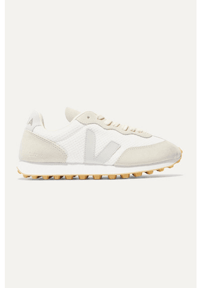 Veja - + Net Sustain Rio Branco Leather-trimmed Mesh And Suede Sneakers - White