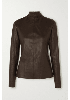 Bottega Veneta - Leather Top - Brown