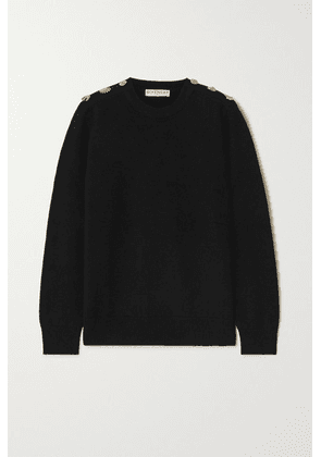 Givenchy - Embellished Wool And Cashmere-blend Sweater - Black