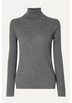 Alex Mill - Ribbed Cotton And Wool-blend Turtleneck Sweater - Dark gray