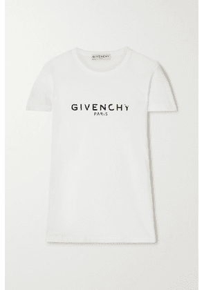 Givenchy - Printed Cotton-jersey T-shirt - White