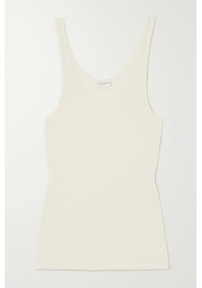 SAINT LAURENT - Ribbed Modal And Cotton-blend Jersey Tank - Ivory