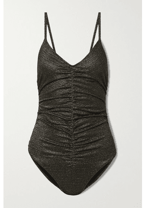 Lisa Marie Fernandez - Ruched Metallic Swimsuit - 3