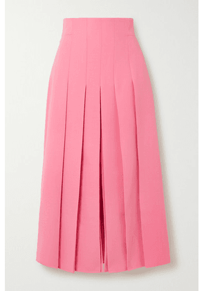 Akris - Pleated Wool-blend Midi Skirt - Pink