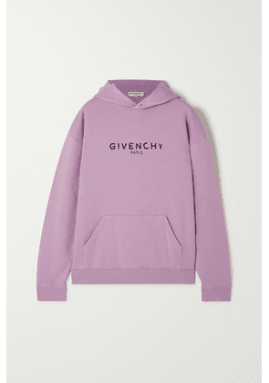 Givenchy - Printed Cotton-jersey Hoodie - Lilac