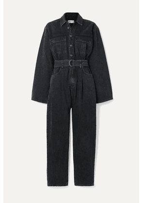 AGOLDE - Tatum Belted Denim Jumpsuit - Black