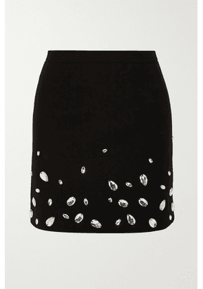 Christopher Kane - Crystal-embellished Cady Mini Skirt - Black