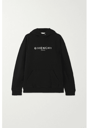 Givenchy - Printed Cotton-jersey Hoodie - Black