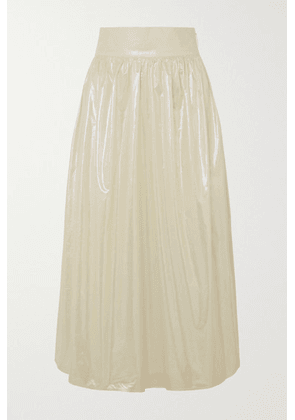 Christopher Kane - Coated Cotton Midi Skirt - Cream