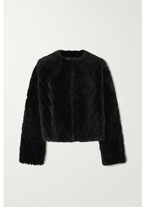 Givenchy - Quilted Shearling Jacket - Black