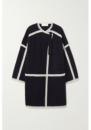 Chloé - Oversized Two-tone Wool Cape - Navy