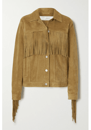 IRO - Russell Fringed Suede Jacket - Camel