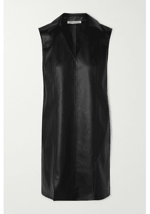alexanderwang.t - Faux Leather Mini Dress - Black