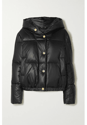 Versace - Hooded Printed Quilted Shell Down Jacket - Black