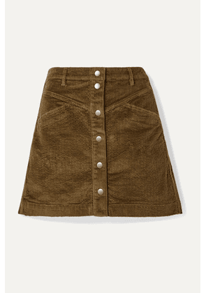 Madewell - Cotton-blend Corduroy Mini Skirt - Dark green
