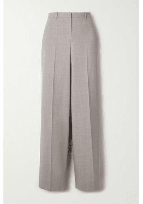 Theory - Mélange Stretch-wool Straight-leg Pants - Gray
