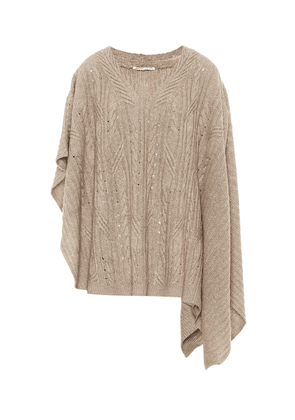 Cashmere and linen poncho