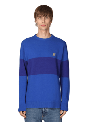 Striped Anagram Knit Wool Sweater