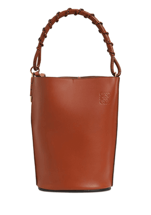 Gate Smooth Leather Bucket Bag