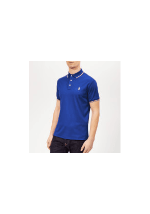 Polo Ralph Lauren Men's Stripe Tipped Pima Polo Shirt - Cruise Royal - M