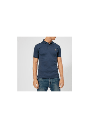 Polo Ralph Lauren Men's Pima Polo Shirt - Spring Navy Heather - M - Navy