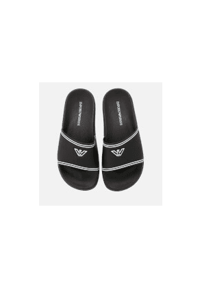 Emporio Armani Women's Slide Sandals - Black/White - UK 5 - Black/White