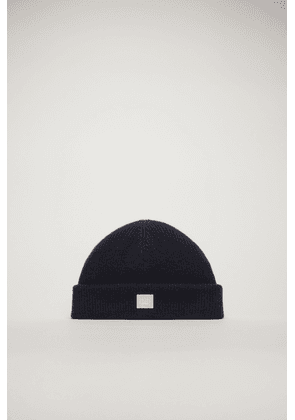 Acne Studios FA-UX-HATS000040 Navy/pink Face-patch beanie