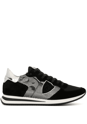 Philippe Model mesh suede trainers - Black
