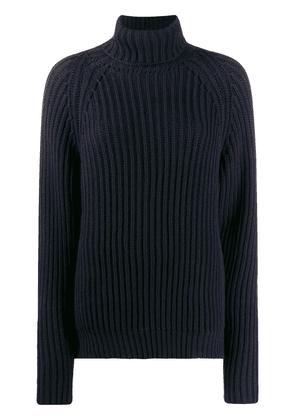 Esteban Cortazar ribbed long jumper - Blue