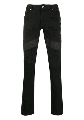 Just Cavalli straight leg trousers - Black