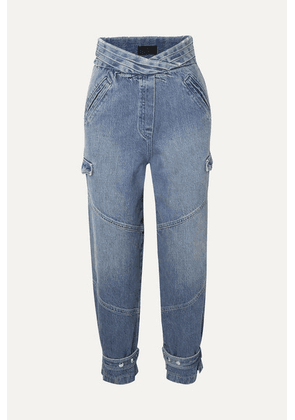 RtA - Dallas Cropped High-rise Tapered Jeans - Mid denim