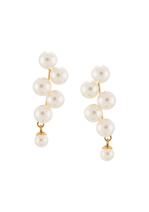 Jennifer Behr Marcella drop earrings - White