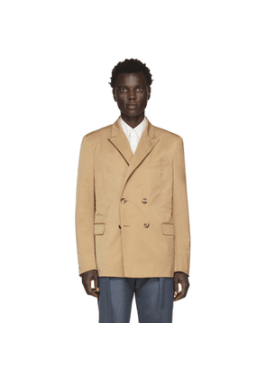 Valentino Tan Double-Breasted Blazer