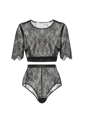 Lace top and bottoms set