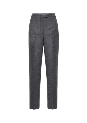 High-rise wool-blend straight pants