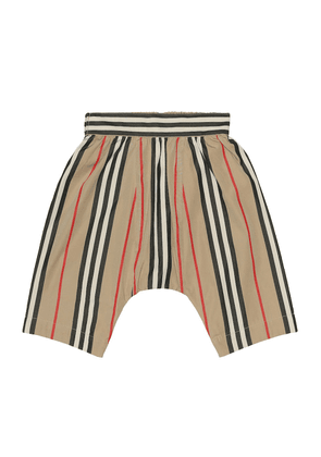 Baby striped cotton-poplin pants
