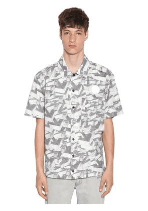 Arrows Pattern Print Cotton Ss Shirt