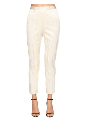 Classic Pleated Satin Pants