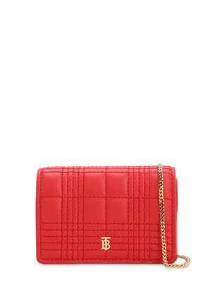 Jessie Quilted Leather Wallet Chain