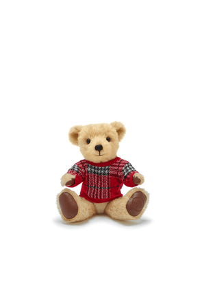 Mulberry Merrythought Teddy Bear in Red Tartan