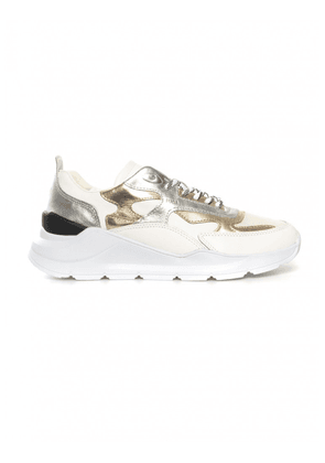D.A.T.E. Sneakers running donna FUGA LAMINATED silver platinum