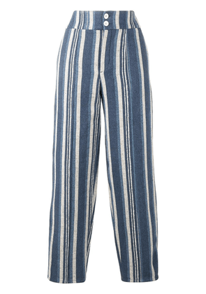 Chloé striped canvas trousers - Blue