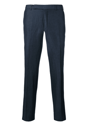 Ermenegildo Zegna mid rise tailored trousers - Blue