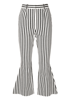 Dolce & Gabbana flared striped cropped trousers - White