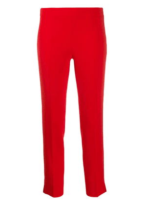 Alberto Biani cropped crepe trousers - Red