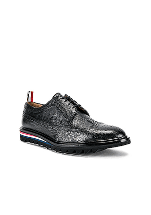 Thom Browne Classic Longwing Brogue in Black - Black. Size 10 (also in ).