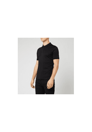 Emporio Armani Men's Mercerized Polo Shirt - Black - M