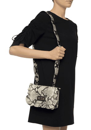 'Rock' Shoulder Bag With A Ruffle, Red Valentino, Women, Beige