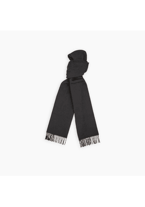 Dark Grey and Tan Reversible Cashmere Scarf